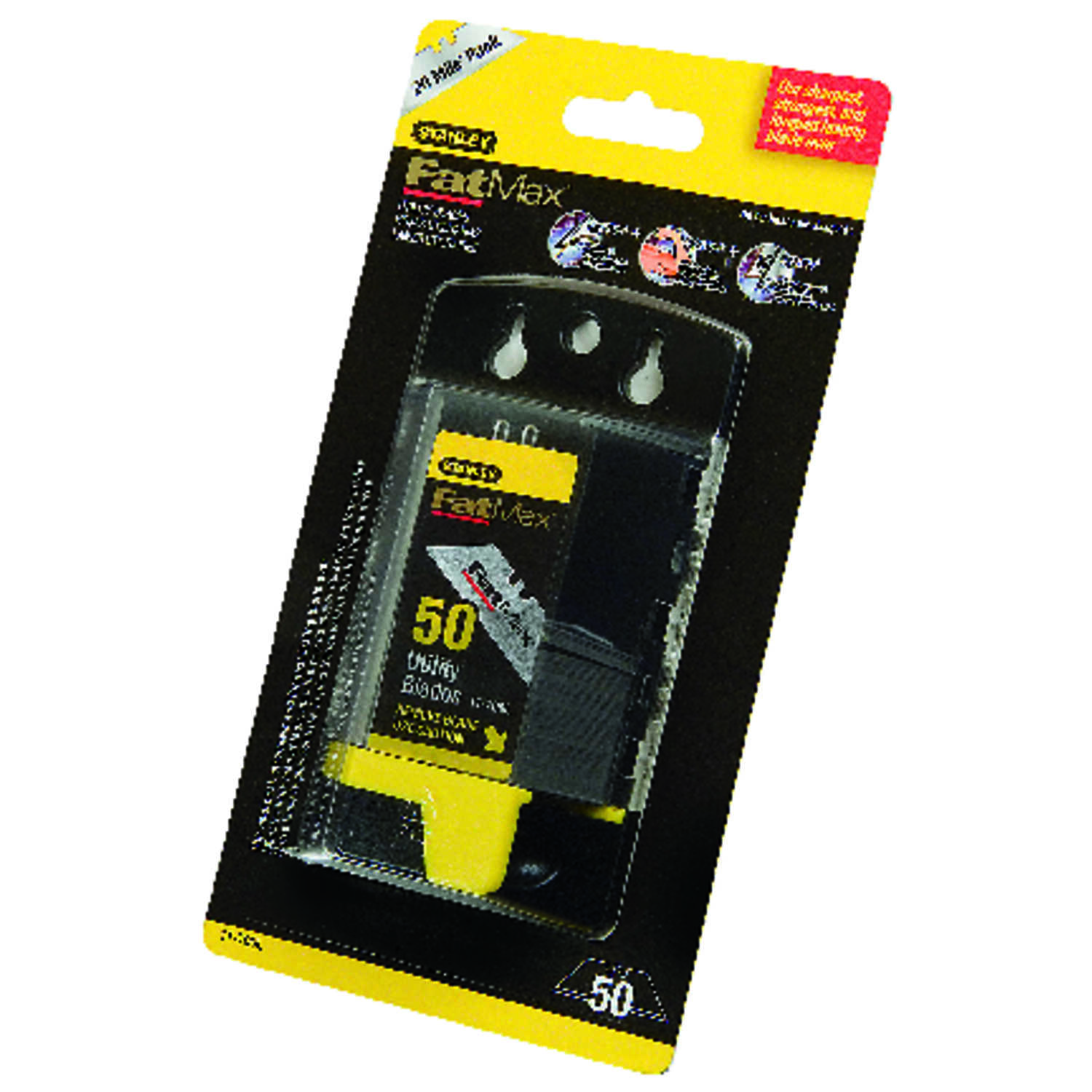 Stanley  2-7/16 in. L x 0.02 in.  Steel  Utility  Replacement Blade  50 pk