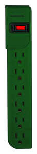 Monster Cable  Just Power It Up  3 ft. L 6 outlets Power Strip  Green