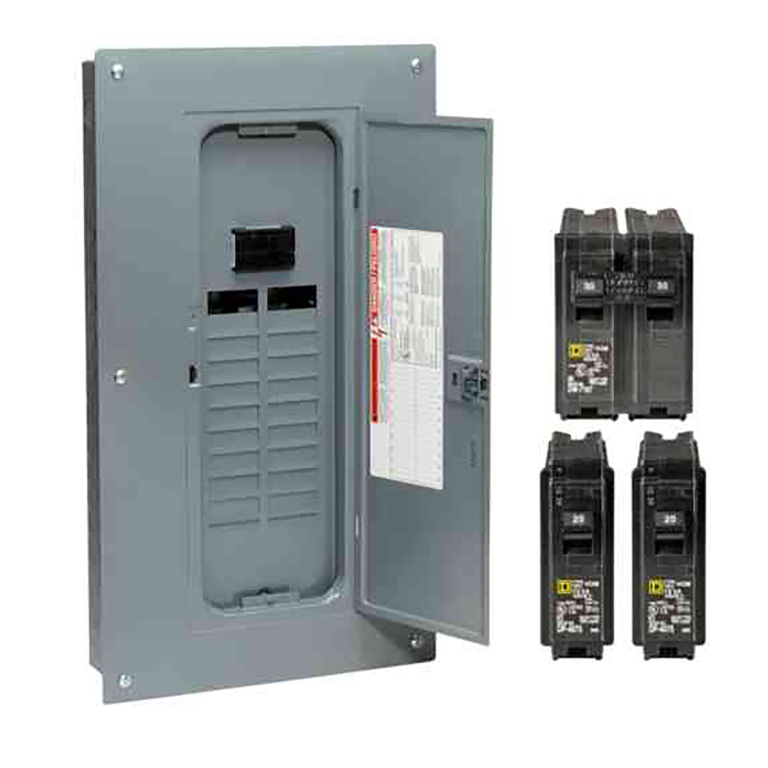 Square D Fuse Box Latch Block And Schematic Diagrams 15a 1p Qo Circuit Breaker Rona Homeline 100 Amps 120 240 Volt 20 Space 40 Circuits Rh Acehardware Com