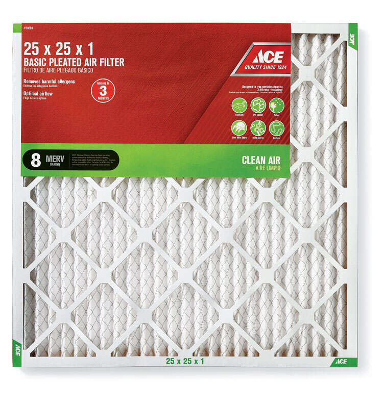 Ace  25 in. H x 25 in. W x 1 in. D Pleated  Air Filter