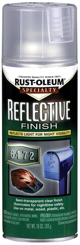 Rust-Oleum  Specialty  Clear  Reflective Finish Spray  10 oz.