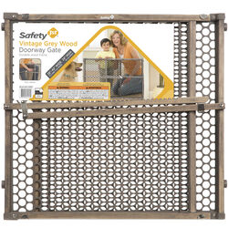 Safety 1st Gray 24 in. H x 28-42 in. W Wood Safety Gate