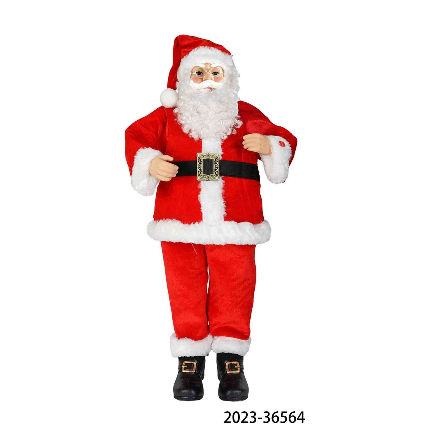 Pan Asian Creations  Red/White  Animated Santa  Miscellaneous  Indoor Christmas Decor