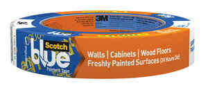 3M  Scotch Blue  0.94 in. W x 60 yd. L Blue  Low Strength  1 pk Painter's Tape
