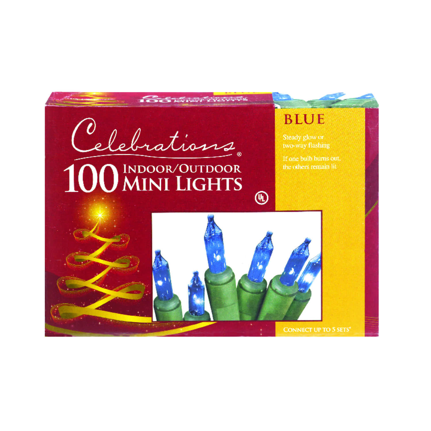 Celebrations  Incandescent  Mini  Light Set  Blue  20 ft. 100 lights