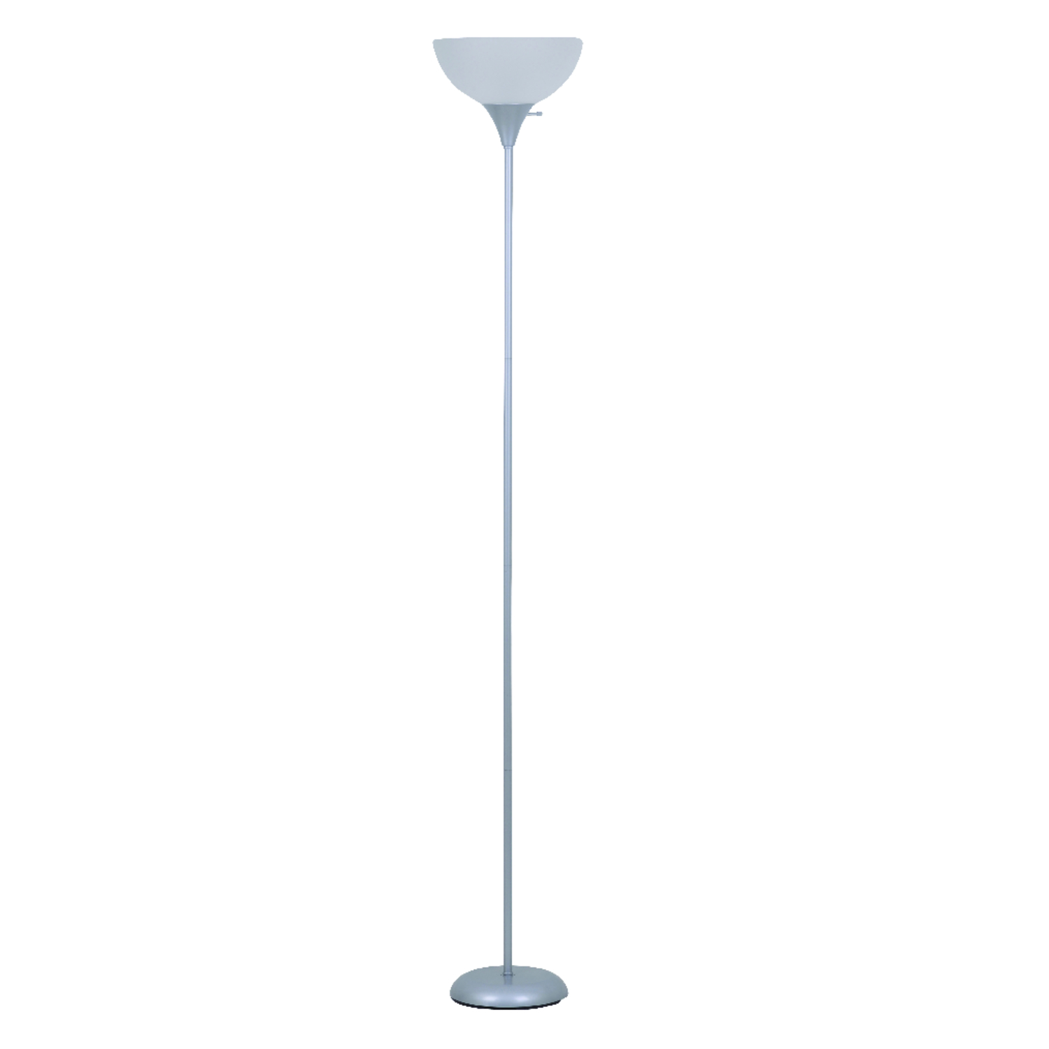 Living Accents  Satin  Metallic  Torchiere Floor Lamp  72 in.