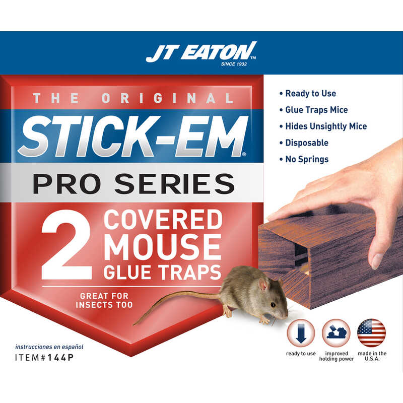 JT Eaton  Stick-Em Pro Series  Small  Covered  Animal Trap  For Insects/Mice 2 pk