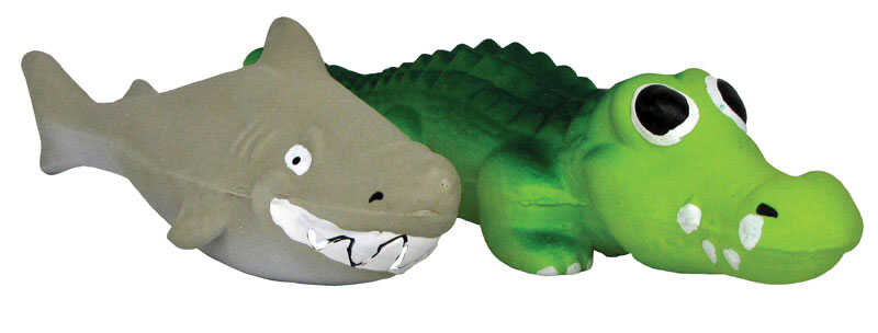 Diggers  Multicolored  Sea Monster  Latex  Sea Monster Dog Toy  Large