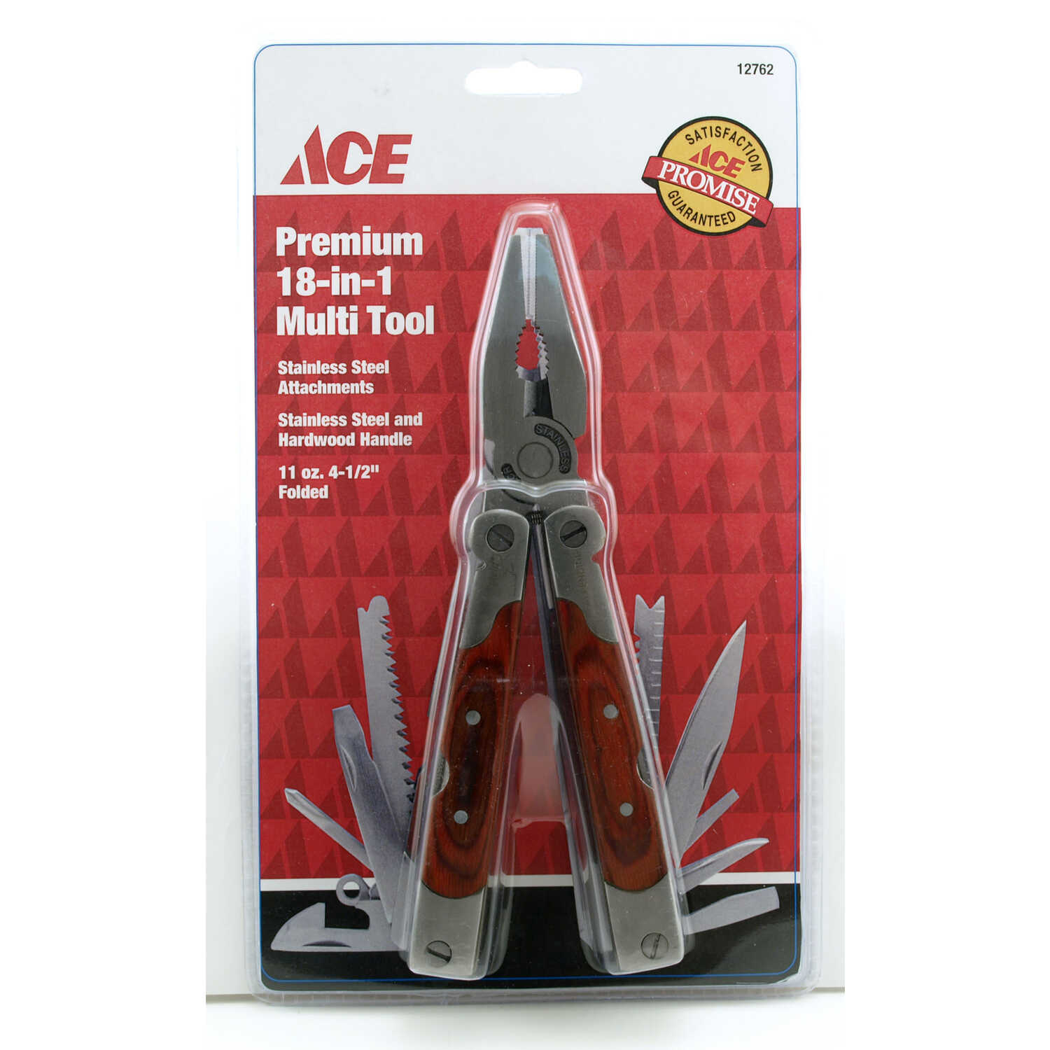 Ace  Silver/Brown  Multi Tool