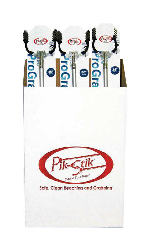 PikStik  36 in. Magnetic Pick-Up Tool  Aluminum  5 lb. pull Silver