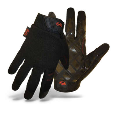 Boss  Unisex  Indoor/Outdoor  Diamond Grip  Mechanic�s Glove  Black  M  1 pair