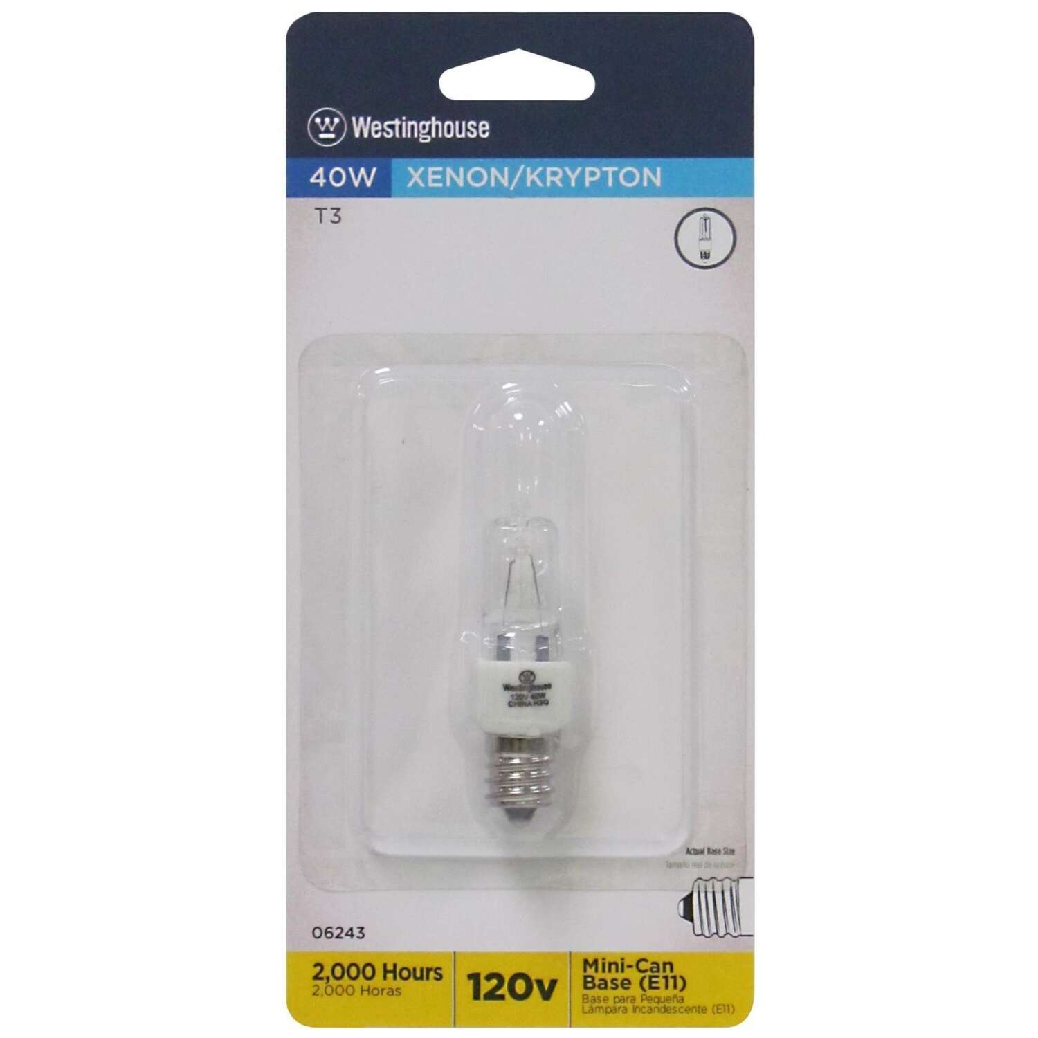 Westinghouse  40 watts T3  Incandescent Bulb  560 lumens White  1 pk Specialty