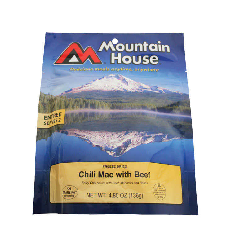 Mountain House  Chili Mac with Beef  Freeze Dried Food  4.8 oz. Pouch