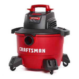 Craftsman  6 gal. Corded  Wet/Dry Vacuum  3-1/2 hp 7.5 amps 120 volts Red  15 lb. 1 pc.