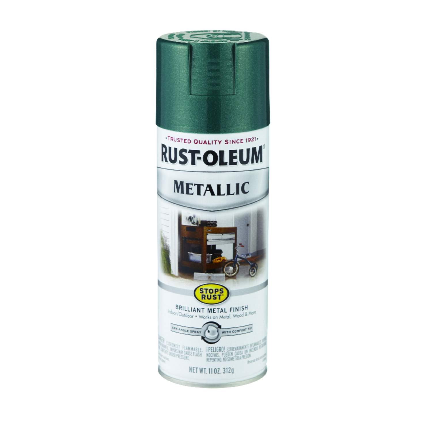 Rust-Oleum  Stops Rust  Spray Paint  Racing Green  11 oz.