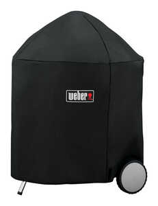 Weber  Black  Grill Cover  31.5 in. W x 31.5 in. D x 39 in. H For Fits 26 inch Weber charcoal grills