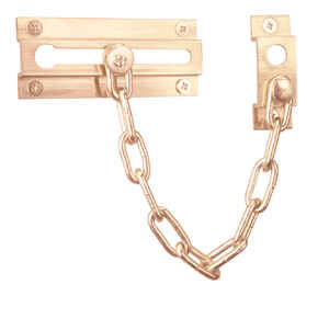 Prime-Line  3.93 in. L Polished  Brass  Chain Door Guard