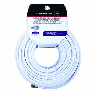 Monster Cable  Just Hook It Up  100 ft. Video Coaxial Cable