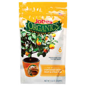 Jobe's  Organics Fruit & Citrus Potted Trees  3-5-7  Fertilizer Spikes  6 pk