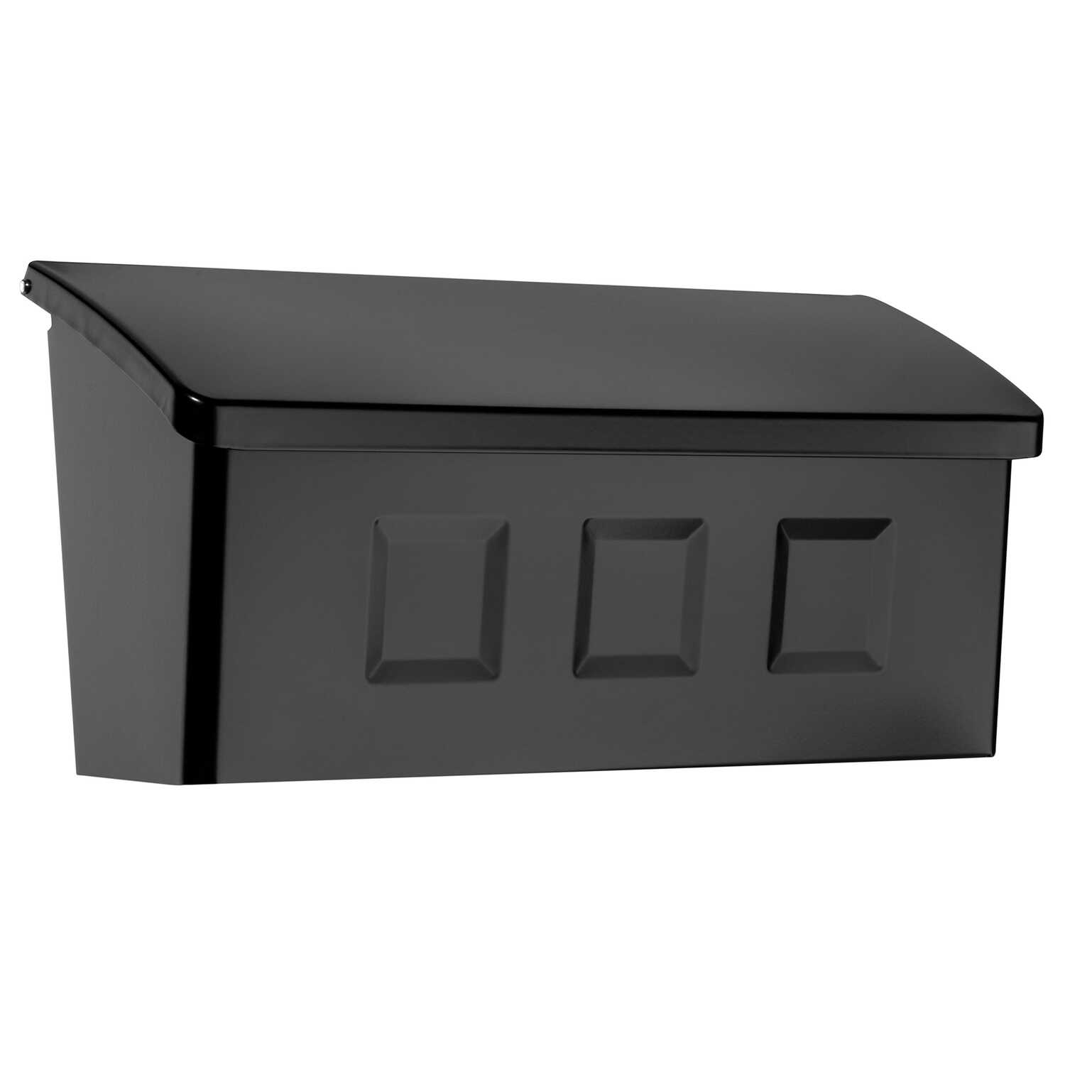 Architectural Mailboxes  Wayland  Galvanized Steel  Wall-Mounted  Black  Mailbox  4.13 in. H x 14.65