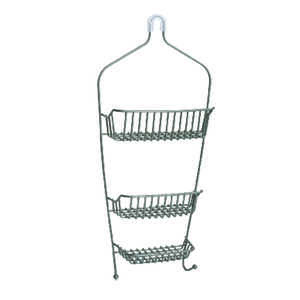 Zenith  Shower Caddy  26.1 in. H x 4.5 in. L x 11.8 in. W Nickel  Metal  Nickel