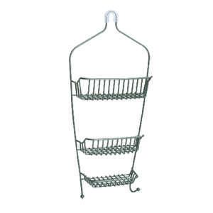 Zenith  Shower Caddy  11.8 in. W x 26.1 in. H x 4.5 in. L Nickel  Nickel  Metal