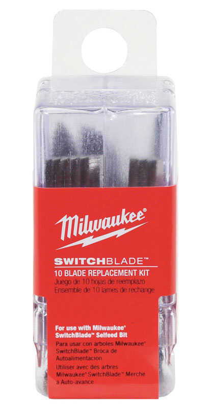 Milwaukee  SWITCHBLADE  0.06 in.  x 2 in. L Hardened Steel  Replacement Switchblade  10 pk Wood Chis
