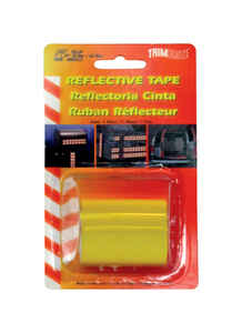 Trim Brite  24 in. W x 2 in. L Yellow  Reflective Tape