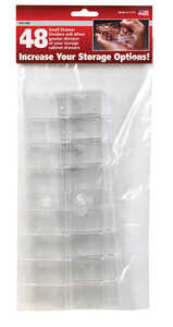 Stack-On  2 in. L x 1-1/8 in. W x 2 in. H Drawer Dividers  Plastic  48 compartment Clear