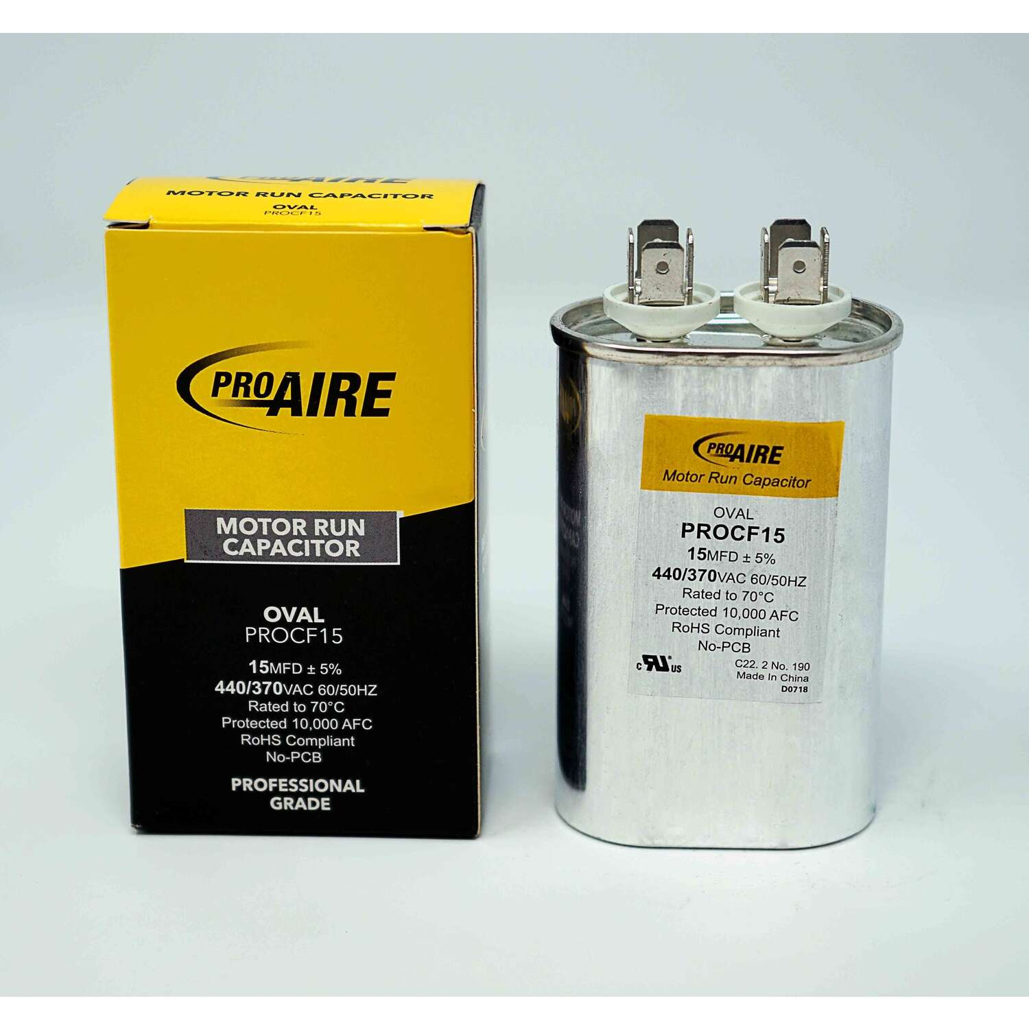 Perfect Aire ProAire 15 MFD 370 volt Oval Run Capacitor