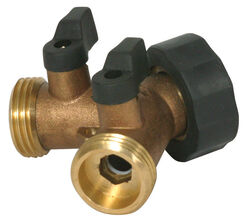 Camco  1 in. Hose   x 1 in.  Brass  3-Way Valve