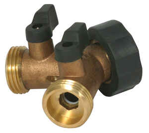 Camco  Brass  3 Way Valve