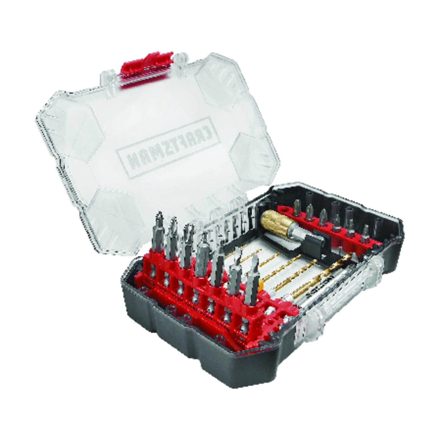 Craftsman  Multi Size  Dia. x 2 inch  L High Speed Steel  Drill and Driver Bit Set  Hex Shank  22 pc
