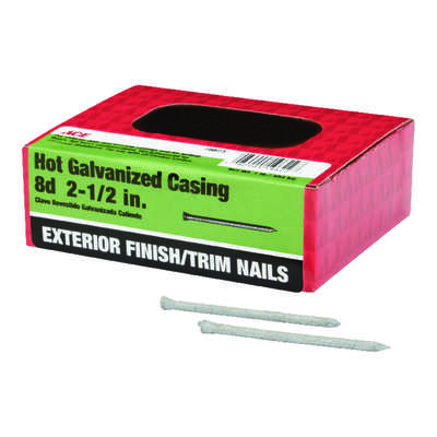Ace  8D  2-1/2 in. Casing  Hot-Dipped Galvanized  Steel  Nail  Brad  1 lb.