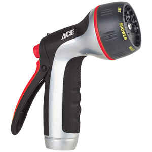 Ace  Aqua Gun  7 pattern Adjustable 7-Pattern  Metal  Hose Nozzle