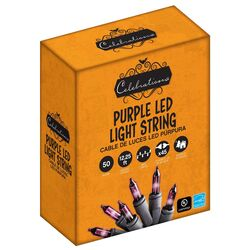 Celebrations  LED  Mini  Purple  50 count String  Christmas Lights  12.25 ft.