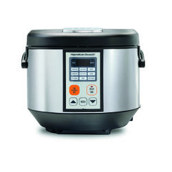Hamilton Beach 4.5 qt. Silver Stainless Steel Programmable Multi-Cooker