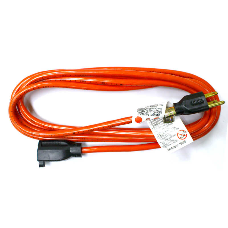 Ace  Indoor and Outdoor  10 ft. L Orange  Extension Cord  16/3 SJTW