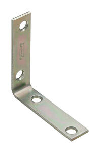 National Hardware  2-1/2 in. H x 5/8 in. W x 0.10 in. D Zinc-Plated  Steel  Inside  Corner Brace