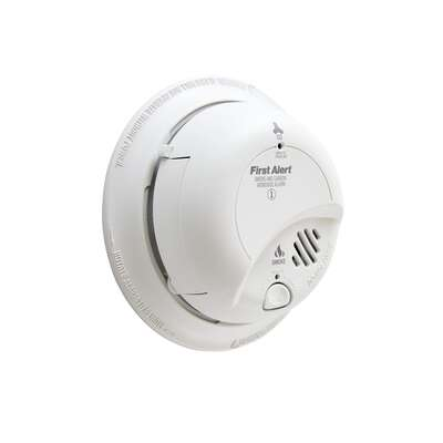 BRK  Hard-Wired w/Battery Back-up  Ionization  Smoke and Carbon Monoxide Detector  6 pk