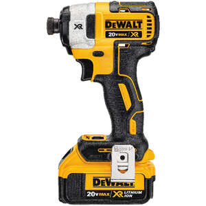 DeWalt  XR  20 max volts 1/4 in. Cordless  Hex  Brushless Impact Driver  Kit 3250 rpm 1825 ft./lbs.