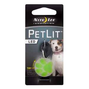 Nite Ize  PetLit  Green  PetLit  Plastic  Ball and Collar Light