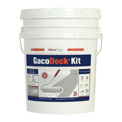 GacoFlex GacoDeck Pewter Water-Based Solid Deck Coating Kit 3.5 gal.