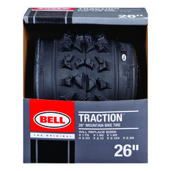 Bell Sports  Traction  26 in. Rubber  Bicycle Tire  1 pk