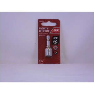 Ace  3/8 in. drive  x 1-3/4 in. L Chrome Vanadium Steel  Magnetic Nut Setter  1  Quick-Change Hex Sh