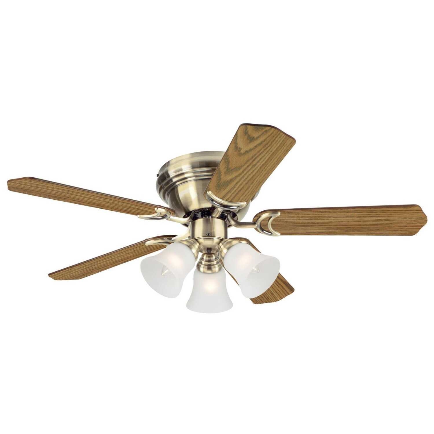 Westinghouse Contempra Trio 17 5 Blade Indoor 42 In W Ceiling Fan 12 Foot Swag Light Kit Chain By Electric New Antique Brass
