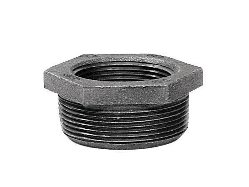 B & K  1 in. MPT   x 3/8 in. Dia. FPT  Galvanized  Malleable Iron  Hex Bushing