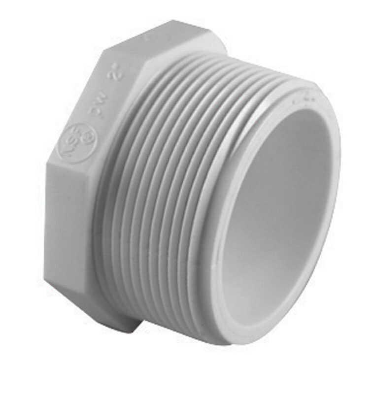 Charlotte Pipe  Schedule 40  1-1/4 in. MPT   x 1-1/4 in. Dia. FPT  PVC  Plug