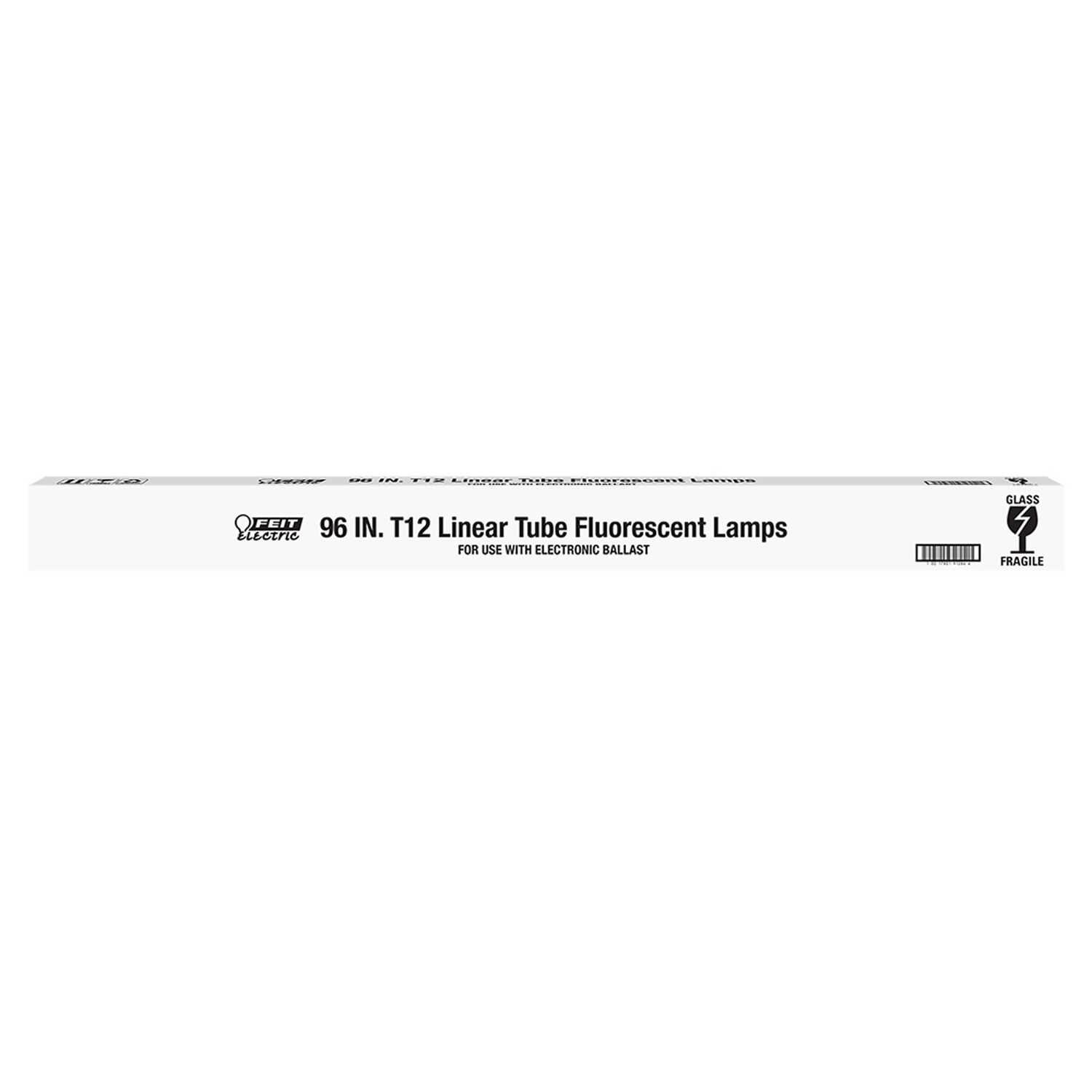 FEIT Electric  75 watts T12  96 in. Cool White  Fluorescent Bulb  5000 lumens Linear  1 pk