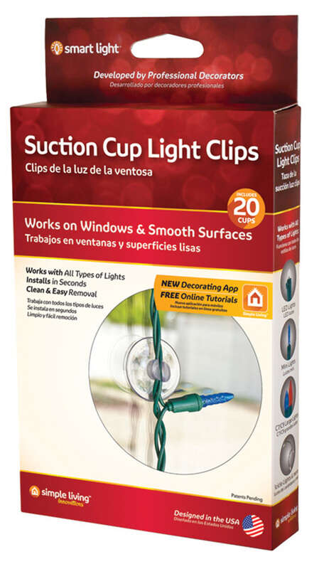 Simple Living  Smart Light  Clear  Suction Cup Light Clips
